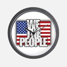 WE THE PEOPLE with Flag Wall Clock