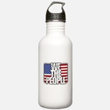 WE THE PEOPLE with Flag Water Bottle
