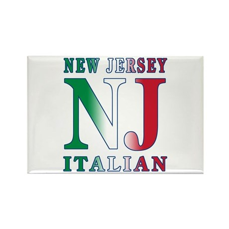 New Jersey Italian Rectangle Magnet (100 pack)