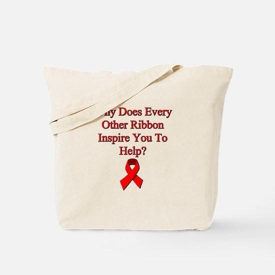 Unique Aids ribbon Tote Bag