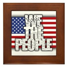 WE THE PEOPLE with Flag Framed Tile