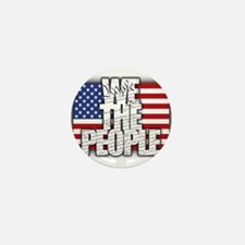 WE THE PEOPLE with Flag Mini Button