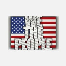 WE THE PEOPLE with Flag Rectangle Magnet