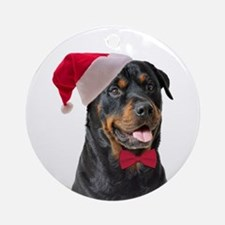Santa Rottie Ornament (Round)