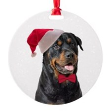 Santa Rottie Ornament