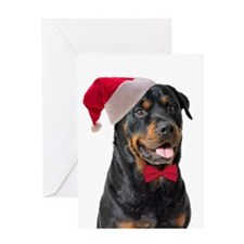 Santa Rottie Greeting Card