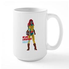 AAL Female Superhero Mug
