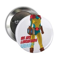 "AAL Female Superhero 2.25"" Button"