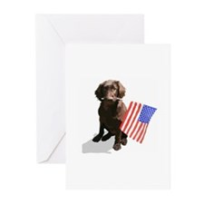 4th of July pup Greeting Cards (Pk of 20)