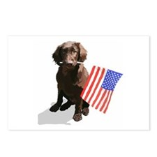 4th of July pup Postcards (Package of 8)