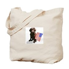 4th of July pup Tote Bag