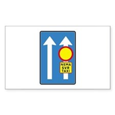Only Taxi Lane - Iceland Rectangle Decal