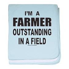 I'M A FARMER baby blanket