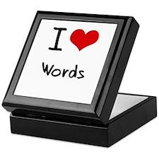 I love Words Keepsake Box
