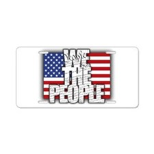 WE THE PEOPLE with Flag Aluminum License Plate