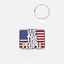 WE THE PEOPLE with Flag Keychains