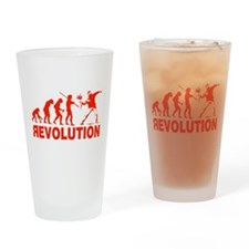 Revolution is following me Drinking Glass