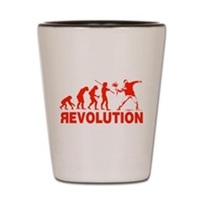 Revolution is following me Shot Glass
