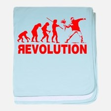 Revolution is following me baby blanket