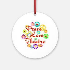 Peace Love Theatre Ornament (Round)