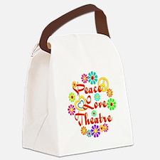 Peace Love Theatre Canvas Lunch Bag