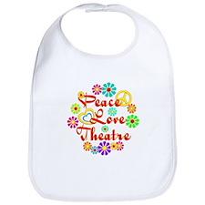 Peace Love Theatre Bib