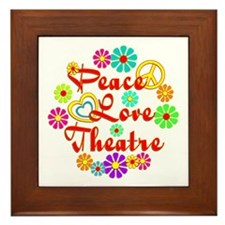 Peace Love Theatre Framed Tile