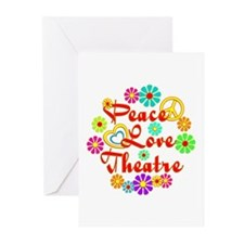 Peace Love Theatre Greeting Cards (Pk of 10)
