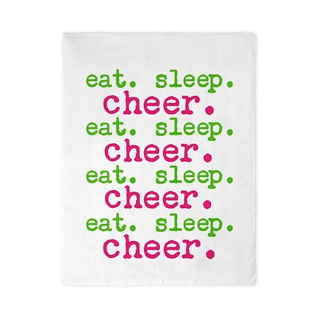 Eat.sleep.cheer. Twin Duvet