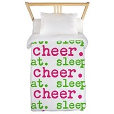 Eat.sleep.cheer. Twin Duvet