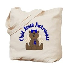 CHILD ABUSE AWARENESS WITH TEDDY BEAR Tote Bag