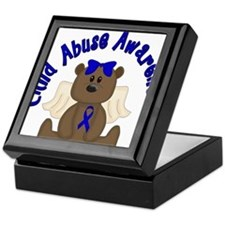 CHILD ABUSE AWARENESS WITH TEDDY BEAR Keepsake Box