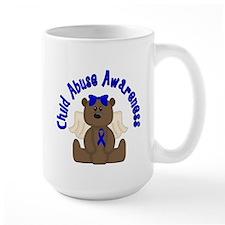 CHILD ABUSE AWARENESS WITH TEDDY BEAR Mug