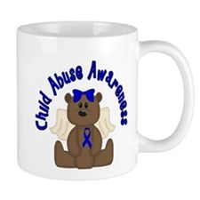 CHILD ABUSE AWARENESS WITH TEDDY BEAR Mug