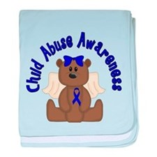CHILD ABUSE AWARENESS WITH TEDDY BEAR baby blanket