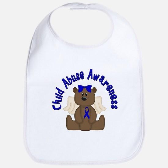 CHILD ABUSE AWARENESS WITH TEDDY BEAR Bib