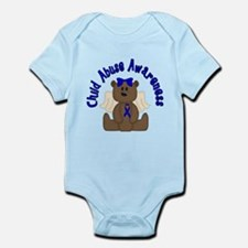 CHILD ABUSE AWARENESS WITH TEDDY BEAR Body Suit