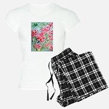 Pretty red flowers, art, Pajamas
