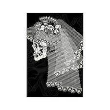 Skull Bride Rectangle Magnet
