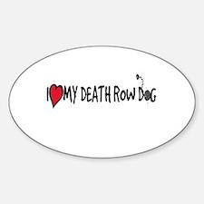 Death Row Dog Oval Decal