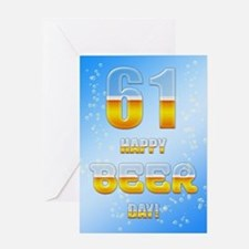 61st birthday beer Greeting Card