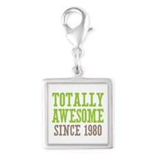 Totally Awesome Since 1980 Silver Square Charm