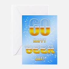 60th birthday beer Greeting Card