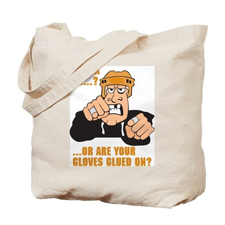 Angry Hockey Player Tote Bag