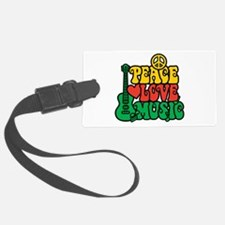 Reggae Peace Love Music Luggage Tag