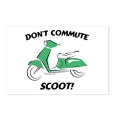 Don't Commute (Green) Postcards (Package of 8)