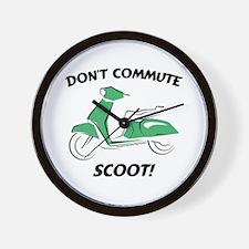 Don't Commute (Green) Wall Clock
