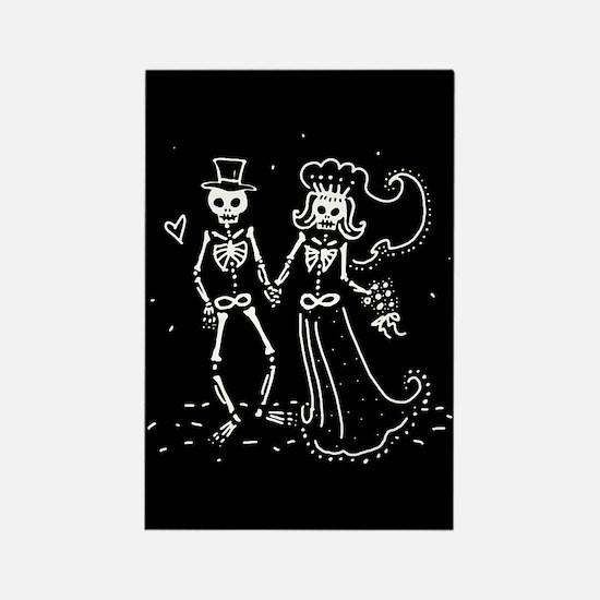 Skeleton Bride And Groom Rectangle Magnet