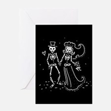 Skeleton Bride And Groom Greeting Card