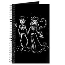 Skeleton Bride And Groom Journal